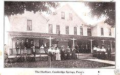 Cambridge Springs PA, Hurlburt Hotel 1908