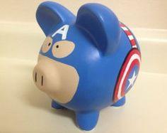 Winnie the Pooh Hand Painted Ceramic Piggy Bank Medium Star Wars Darth, Darth Vader, Personalized Piggy Bank, Winnie The Pooh, Ceramic Shop, Cute Piggies, This Little Piggy, Hand Painted Ceramics, Picture Frames