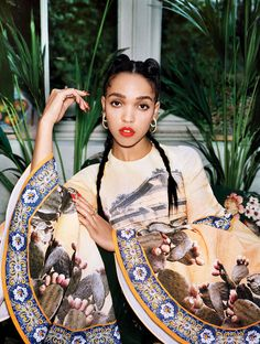 FKA twigs - Photographed by Angelo Pennetta, Vogue, April 2014 (MISS - Very pretty, but no - BA)