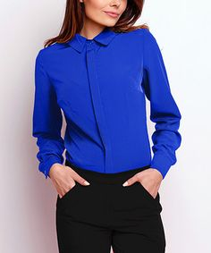 Cobalt Button-Up Top