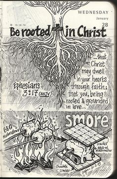 The idea of scripture verse in this illustration is a root formation in a heart shape to represent love. On that day I tried making some smores for the first time. Loved them! Check out smore on wikipedia : en.wikipedia.org/wiki/Smores My blog : designerinpajamas.wordpress.com