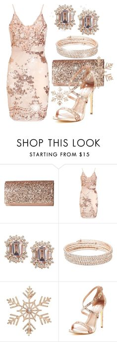 """Rose Gold Gifts For You!"" by itsablingthing ❤ liked on Polyvore featuring Jessica McClintock, Anne Klein and John Lewis"