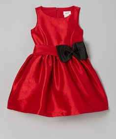 Red & Black Bow Dress - Girls by Jupon by Baby Nay on #zulily today!