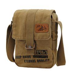 Men's Womens Casual Canvas Messenger Shoulder Bag School Satchel Sling   jiacase