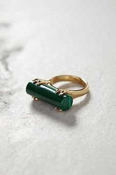 Malachite Wedge Ring - anthropologie.com #anthroregistry