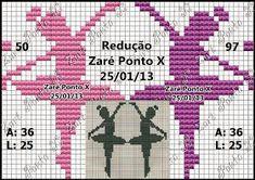 Apaixonada por Ponto Cruz: Monograma Ballet Cross Stitch For Kids, Cross Stitch Alphabet, Diy Embroidery, Cross Stitch Embroidery, Cross Stitch Designs, Cross Stitch Patterns, Mermaid Toys, Swedish Weaving, Pixel Pattern