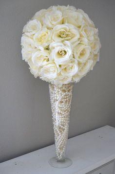"DIY Wedding 16"" Clear Pilsner/Cone/Trumpet Vase Small Wedding Ideas"