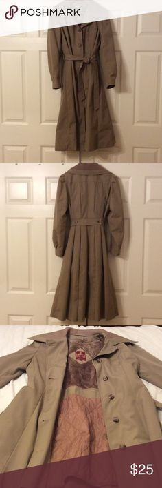 Vintage all weather trench coat. All weather trench coat.  Fully lined with an additional removable lining for cold weather. Jackets & Coats Trench Coats