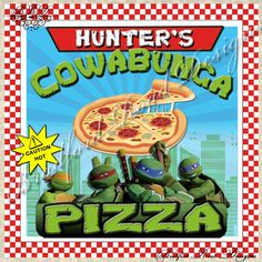 TMNT Teenage Mutant Ninja Turtles Pizza Box by BradfordRoadDesigns, $7.00