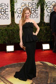 Golden Globes 2014. Leslie Mann vestida de Dolce & Gabbana.