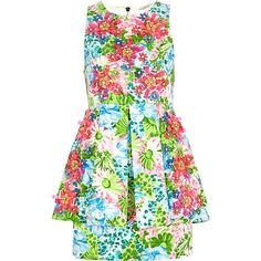 Perfect for Garden Party or daytime summer wedding ; Blue floral 3D detail peplum dress $80.00