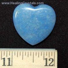 Hearts - Blue Quartz Hearts- Blue Quartz - Healing Crystals