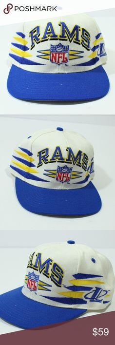80b395810 VTG Logo Athletic SnapBack Hat NFL 90s Los Angeles Vintage Logo Athletic  Diamond SnapBack Hat NFL