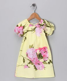 Take a look at this Yellow Palm Beach Floral Peasant Dress - Infant & Toddler by Mad Sky on #zulily today!