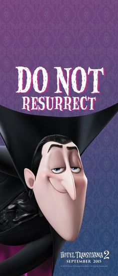 Dracula Door Hanger - Hotel Transylvania 2 Activities and Recipes Halloween Fashion, Halloween Movies, Halloween Games, Halloween Treats, Famous Cartoons, Disney Cartoons, Dracula Hotel Transylvania, Monster Hotel, Coming To Theaters