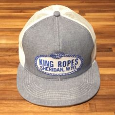 King Ropes denim and white mesh trucker hat, Emo, vintage cowboy, Pharrell in Hats | eBay