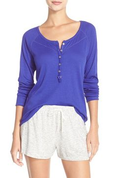 kensie 'Curled Up' Henley Top available at #Nordstrom