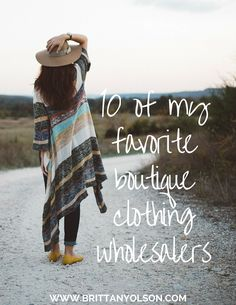 Find wholesale clothing for your online boutique or store with our list of fashion clothing wholesalers. Sell clothing online by starting an online clothing store and launching a profitable online business you can work from home or remotely
