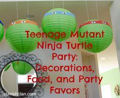 Teenage Mutant Ninja Turtle Party: Food, Decorations, and Activity Ideas - Simply Stavish