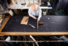Bespoke Tailors Work At Savile Row