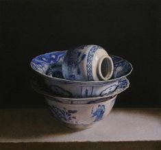 blue - china - still life painting - Erkin