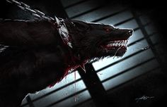 Chained werewolf. someone was keeping pets, and werewolves are dangerous beasts…