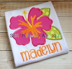 Hibiscus Flower Applique - 4 Sizes! | What's New | Machine Embroidery Designs | SWAKembroidery.com Stitch Away Applique
