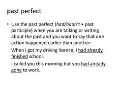 1000+ images about Past Perfect Simple on Pinterest | Present perfect ...