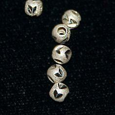 Sterling Silver .925 Diamond Cut Leaf Pattern Beads by SilverRosesJewelry on Etsy