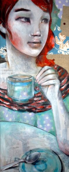 Bleuthe-Leo-Vinh-mixed media on canvas- 20x50cm-2012
