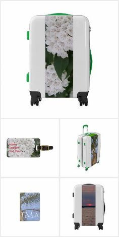 One-of-a-kind Luggage Suitcases and matching Accessories in a variety of themes.  Personalize.  Choose carry-on, medium or large suitcases (includesTSA approved lock), I.D. Luggage Tags, Passport Holders.  Original Photography and Graphic Artwork designs by TamiraZDesigns.