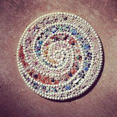 beautiful swirl stepping stone