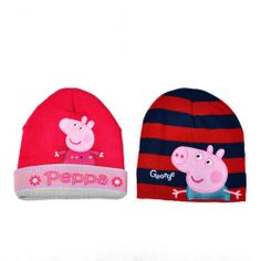 c04c64dbd0f Aliexpress.com   Buy Popular Children Hat Winter Hats Boys and Girls Hat  Cartoon Peppa Pig Hats with lining Children Beanies 100% Acrylic 5pcs lot  from ...