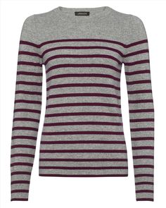 The Breton stripe sweater is an enduring fashion classic, and ours is a fine example. This comfortable and chic piece is crafted from the purest cashmere to a fitted, crew neck shape. Wear yours at the weekend with skinny jeans and flats.