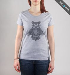 Pure Waste Clothing: Bear Owl Women's T-Shirt