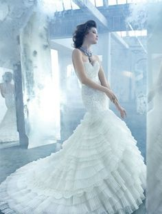Lazaro - Sweetheart Mermaid Gown in Beaded Embroidery