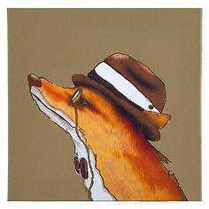 Hipster Fox | Animals | Art Themes | Art | Z Gallerie fun artwork for baby P's room http://www.zgallerie.com/p-14770-hipster-fox.aspx