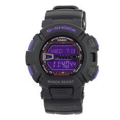 31e93e6e35 Casio Men s G-Shock Mudman Black and Purple Multi-Function Digital Watch  (Watch) Collection