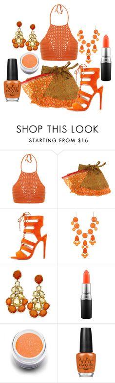 """Perfectly Orange"" by adventuretimekitty ❤ liked on Polyvore featuring Spiritual Hippie, Qupid, Natasha Accessories, MAC Cosmetics, Sugarpill, OPI and orange"