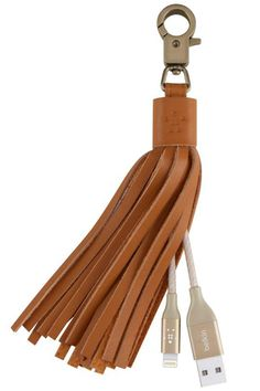 Tapping into another season of '70s-inspired fringe and fashion, Belkin's subtle USB cable keychain doubles as the perfect add-on to your bag as well as a power charge for your phone. Belkin USB leather tassel, $35, belkin.com. - HarpersBAZAAR.com