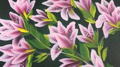 One Stroke Painting - Pink Flower on Stem (full Version)on demand