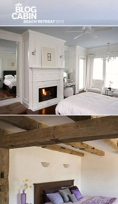 Help us renovate Blog Cabin 2013! Traditional or Rustic Ceiling? Vote now! >> http://www.diynetwork.com/blog-cabin-2013-peoples-choice-master-suite/package/index.html?soc=bc