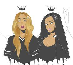Beyonce + Nicki Minaj