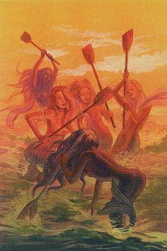 tarot das sereias, 5 de paus