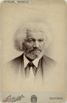 chicagohistorymuseum:    Portrait of Frederick Douglass, abolitionist leader and statesman, Chicago. Photograph by Gentile.   Want a copy of this photo?  > Visit our Rights and Reproductions Department and give them this number: iCHi-10140  Connect with the Museum