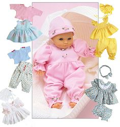 Purchase McCall's 6233 Doll Clothes Package and read its pattern reviews. Find other Crafts, sewing patterns.