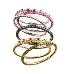 Carolina Bucci stacking rings - my favourite.