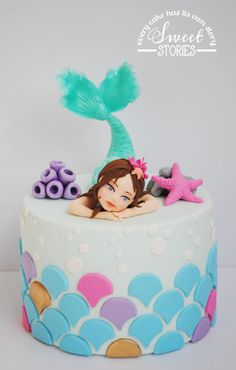 Jennifer the mermaid - Cake by Karla Sweet Stories