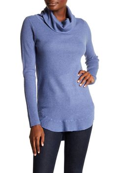 Image of Cyrus Ribbed Cowl Neck Sweater