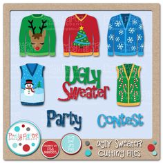 Pretty Paper, Pretty Ribbons Ugly Sweaters Cutting Files